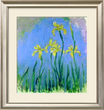 Les Iris Jaunes Posters por Claude Monet