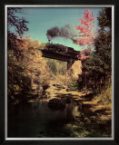 Train 201 East Bound over Bridge 52 on the Abingdon Branch, Virginia Prints by O. Winston Link