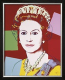 Reigning Queens: Queen Elizabeth II of the United Kingdom, c.1985 (Dark Outline) Prints by Andy Warhol