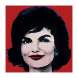 Jackie, c.1964 (On Red) Stampa giclée di Andy Warhol