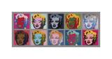 Kymmenen Marilynia, n. 1967 Giclée-vedos tekijänä Andy Warhol