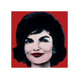 Jackie, c.1964 (On Red) Giclee Print by Andy Warhol