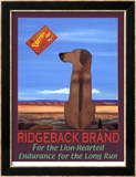 Ridgeback Brand Rajoitettu erä kehystettyjä vedoksia tekijänä Ken Bailey