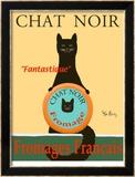 Chat Noir II - Black Cat Rajoitettu erä kehystettyjä vedoksia tekijänä Ken Bailey
