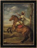 Condottiero arabo a cavallo Arte di Tim Ashkar