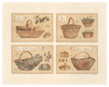 4 Paniers (Vendange) Affiches par Laurence David