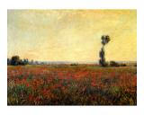Poppy Landscape Reproduction procédé giclée par Claude Monet