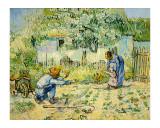 First Steps Giclee-trykk av Vincent van Gogh