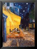Caféterras bij nacht Posters van Vincent van Gogh