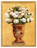 Hortensia Blanc Posters par Laurence David