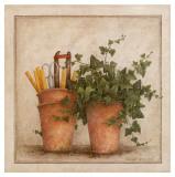 Lierre et Pots II Prints by Vincent Jeannerot