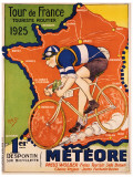 Tour de France, ca 1925 Gicléetryck
