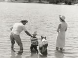 Family Fishing by Lake Photographic Print by Dennis Hallinan