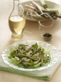 Close-Up of Chicken Salad with a Bottle of Balsamic Vinegar Photographic Print by A. Romiti