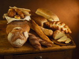 Close-Up of Assorted Breads Fotografie-Druck