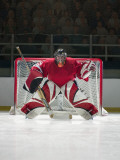 Ice Hockey Goalkeeper Photographic Print