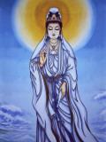 China, Painting of Guan Yin, Goddess of Mercy Photographic Print by Keren Su
