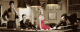 Legal Action: Presley, Monroe, Bogart und Dean beim Billard Poster von Chris Consani