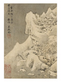 Album de huit feuilles : paysages Gicléedruk van Wutian Wang