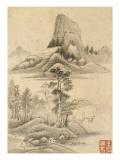 Album de huit feuilles : paysages Reproduction procédé giclée par Wutian Wang
