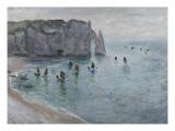 Etretat, la porte d'Aval : bateau de pêche sortant du port Reproduction procédé giclée par Claude Monet