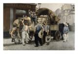 Les livreurs de farine Giclée-vedos tekijänä Pierre Carrier-belleuse