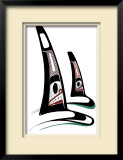 Orcas Limited Edition Framed Print by Danny Dennis