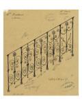 Projet de rampe d'escalier en fer forgé pour l'hôtel de Mme Heidsieck Giclee Print by Alphonse Gosset