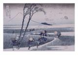Ejiri dans la province de Suruga Reproduction procédé giclée par Katsushika Hokusai