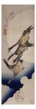 Vol d'oies sauvages sur fonds de lune Giclee Print by Ando Hiroshige