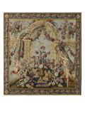 Tenture du Triomphe de Flore: Treillage et vase de fleurs Giclee Print