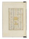 Shahnameh de Ferdowsi ou le Livre des Rois. Page de texte Reproduction procédé giclée