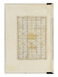 Shahnameh de Ferdowsi ou le Livre des Rois. Page de texte Giclée-tryk