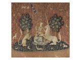 Tenture de la Dame à la Licorne : la Vue Giclée-Druck