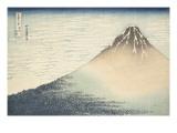 Vent frais par matin clair ou Le Fuji rouge Giclee-trykk av Katsushika Hokusai