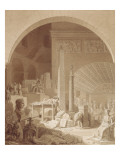 Vue imaginaire du cabinet de travail de Dominique Vivant-Denon Giclee Print by Benjamin Zix