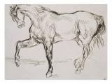 Cheval marchant vers la gauche Reproduction procédé giclée par Eugene Delacroix