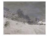 Environs de Honfleur, neige Reproduction procédé giclée par Claude Monet