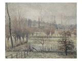 Gelée blanche, matin, dit aussi Effet de neige à Eragny Giclee Print by Camille Pissarro