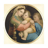 La Vierge a Chaise Giclée-tryk af Raffaello Sanzio