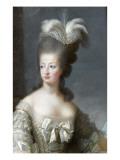 Marie-Antoinette de Lorraine-Habsbourg, archiduchesse d'Autriche, reine de France (1755-1795) Giclée-tryk af Brun Elisabeth Louise Vigée-Le