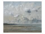 Rivage de Normandie (plage de Trouville - Deauville) Reproduction procédé giclée par Gustave Courbet