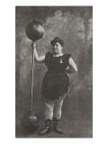Olimpique Palace. Miss Annet Leuth (La donna piu forte del mondo), leveur de poids Giclée-Druck