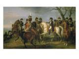 Napoléon Ier donnant l'ordre avant la bataille d'Austerlitz, 2 décembre 1805 Reproduction procédé giclée par Antoine Charles Horace Vernet