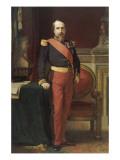 Napoléon III, en uniforme de général de Division, dans son Grand Cabinet aux Tuileries, en 1862 Reproduction procédé giclée par Hippolyte Flandrin