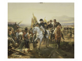 Napoleon on the Battlefield Friedland, June 14, 1807 Giclée-tryk af Horace Vernet
