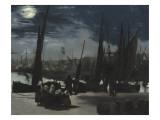 Clair de lune sur le port de Boulogne Reproduction procédé giclée par Edouard Manet