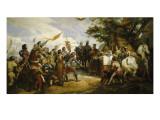 Philippe-Auguste à la bataille de Bouvines, le 27 juillet 1214 Reproduction procédé giclée par Horace Vernet