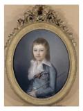 Portrait en buste de Louis XVII (1785-1795), représenté Dauphin Reproduction procédé giclée par Alexandre Kucharski
