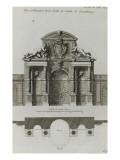 Planche 189 : Plan et élévation de la Grotte du jardin du palais du Luxembourg Reproduction procédé giclée par Jacques-François Blondel